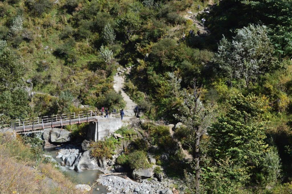 Cross the bridge and climb the adjacent hill.